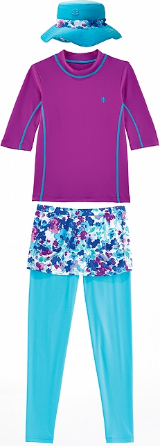 Skirted Swim Leggings Outfit at Coolibar