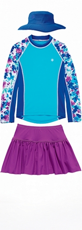 Rash Guard & Swim Skort Outfit