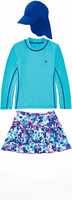 Surf Shirt & Swim Skort Outfit at Coolibar