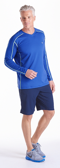 Dynamic Blue Cool Fitness Shirt Outfit