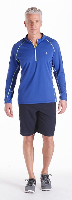 Quarter Zip Fitness Shirt Outfit at Coolibar