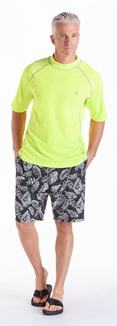 Bright Lime Short Sleeve Swim Shirt Outfit