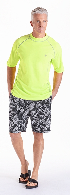 Bright Lime Swim Shirt Outfit at Coolibar