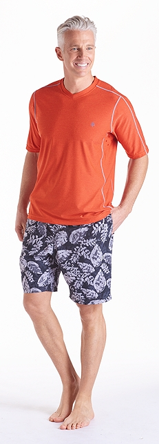 Aqua T-Shirt & Swim Trunks Outfit at Coolibar