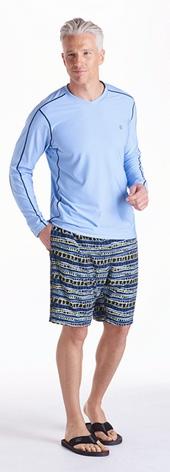 Sky Heather Long Sleeve Aqua T-Shirt Outfit