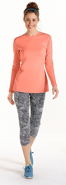 L/S Cool Fitness Shirt Outfit at Coolibar