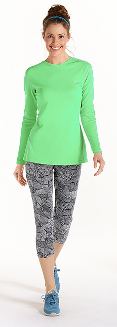 Mint Green Cool Fitness Shirt Outfit at Coolibar