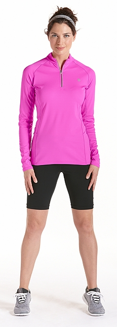 Cool Quarter Zip Fitness Pullover Outfit at Coolibar
