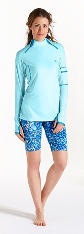 Quick Zip Rash Guard & Swim Shorts Outfit