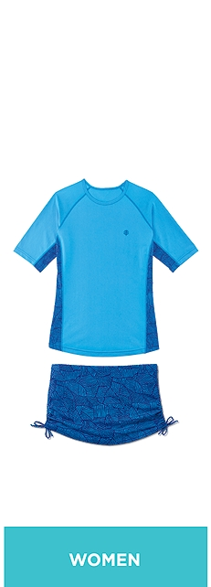 Paddle Swim Shirt & Ruche Swim Bottom Outfit at Coolibar