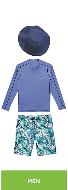 Ocean Heather Aqua T-Shirt Outfit at Coolibar