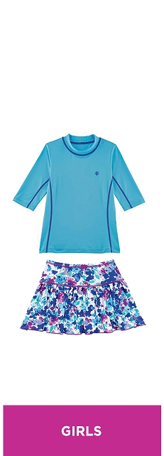 Swim Shirt & Skort Outfit at Coolibar