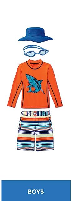 Orange Shark Surf Shirt Outfit at Coolibar