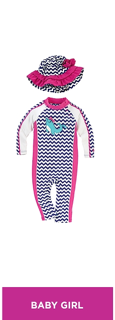 Baby Seaside One-Piece Swimsuit Outfit at Coolibar