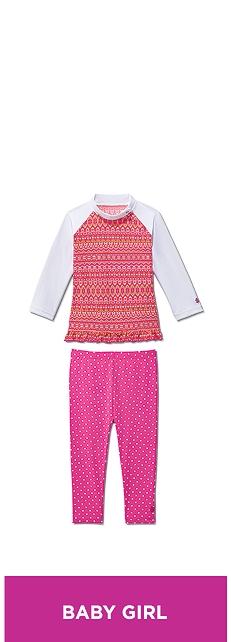 Ruffle Swim Shirt & Tights Outfit at Coolibar
