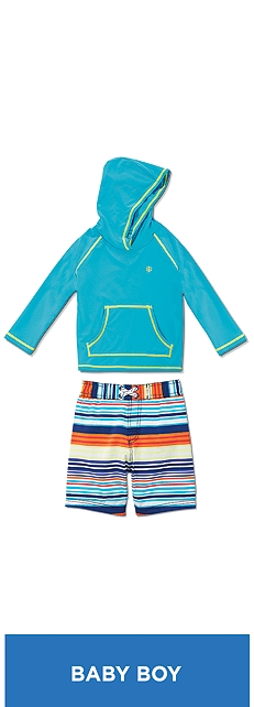 Baby Hooded Swim Shirt Outfit at Coolibar