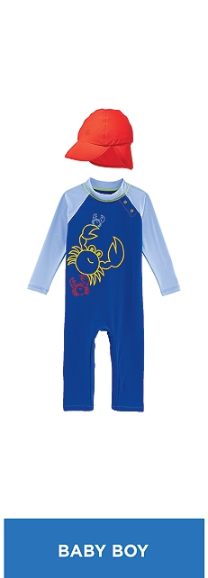 Baby Beach One-Piece Swimsuit Outfit at Coolibar