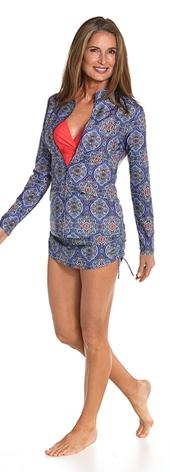 Swim Jacket & Ruche Swim Bottom Outfit