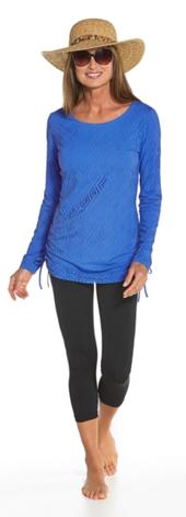 Crochet Ruche Swim Shirt Outfit