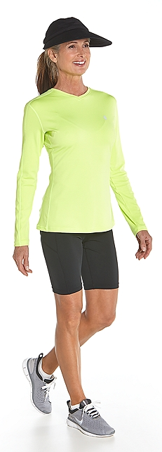 Long Sleeve Cool Fitness Shirt Outfit at Coolibar