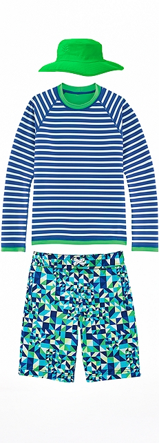 Boy's Reversible Rash Guard Outfit