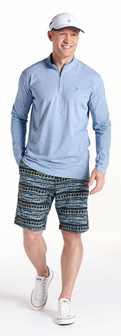 ZnO Summit Quarter-Zip & Swim Trunks Outfit