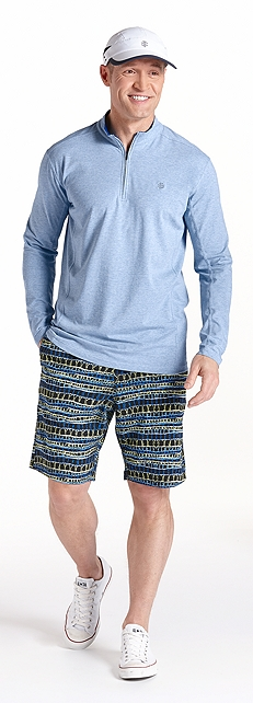 ZnO Summit Quarter Zip & Swim Trunks Outfit at Coolibar
