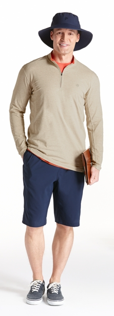 ZnO Summit Quarter Zip & Fitness Shorts Outfit