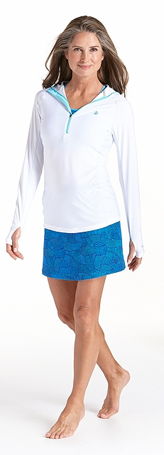 Hooded Swim Shirt Outfit