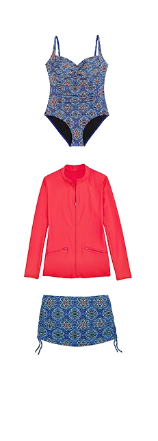 Swimsuit & Swim Jacket Outfit at Coolibar