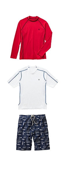 Swim Shirts & Island Swim Trunks Outfit at Coolibar
