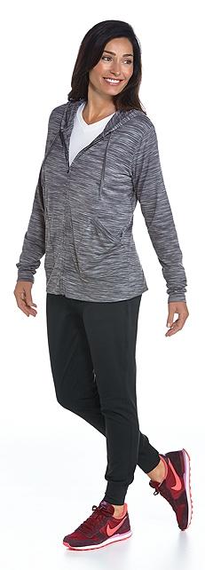 Merino Wool Zip Hoodie Outfit at Coolibar