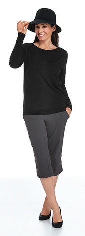 Merino Wool Banded Tee Outfit