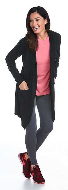 Merino Wool Open Cardigan & ZnO V-Neck Outfit