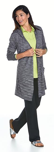 Merino Wool Open Cardigan & Adventure Shirt Outfit