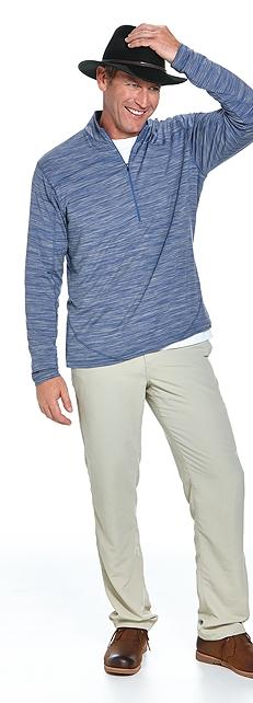 Merino Wool Half-Zip Outfit at Coolibar