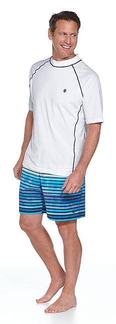 Short Sleeve Swim Shirt & Surf Swim Trunks Outfit at Coolibar