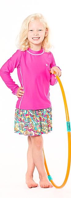 Long Sleeve Surf Shirt & Swim Skirt Outfit at Coolibar