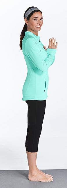 Athletic Jacket & Yoga Capris Outfit