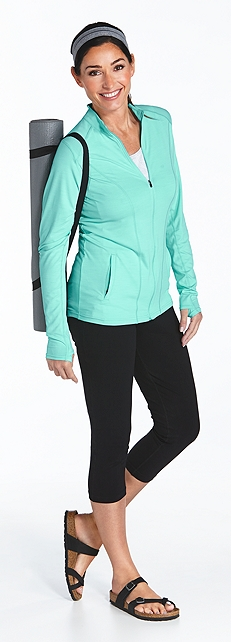 Athletic Jacket & Yoga Capris Outfit at Coolibar