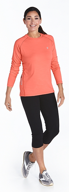 Running Shirt & Yoga Capris Outfit at Coolibar