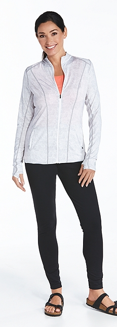Athletic Jacket & Yoga Leggings Outfit at Coolibar