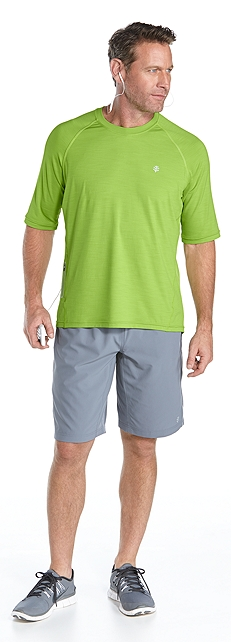 Running Shirt & Sport Shorts Outfit at Coolibar