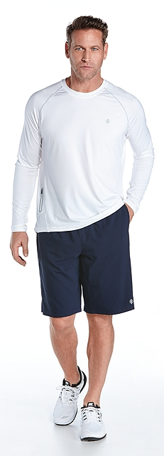 Long Sleeve Running Shirt & Sport Shorts Outfit at Coolibar