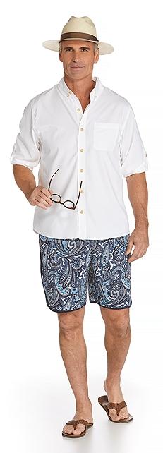 Panama Fedora & Sun Shirt Outfit at Coolibar