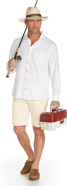 Panama Fedora & Sun Shirt Outfit