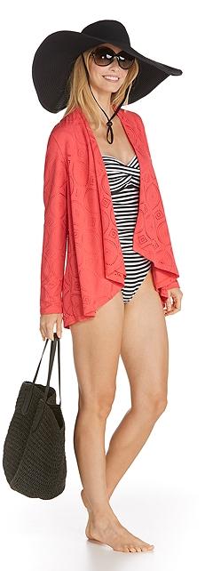 Crochet Wrap & Bandeau Swimsuit Outfit