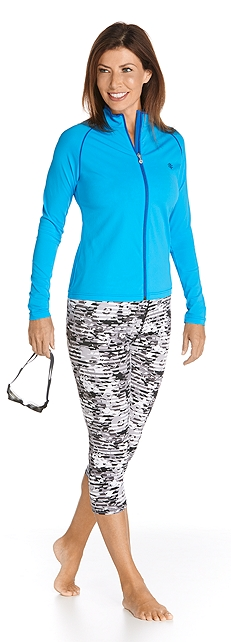 Water Jacket & Swim Capris Outfit at Coolibar