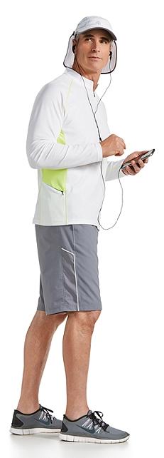 Fitness Quarter-Zip & Sport Short Outfit at Coolibar
