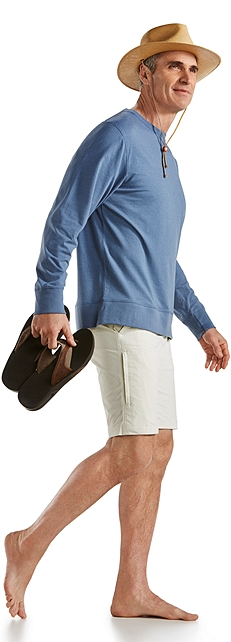 Crew Neck Shirt and Casual Shorts Outfit at Coolibar